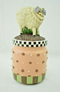 """Decorative Lamb Candle with Topper - 7"""" - Country Milk Jug Design"""