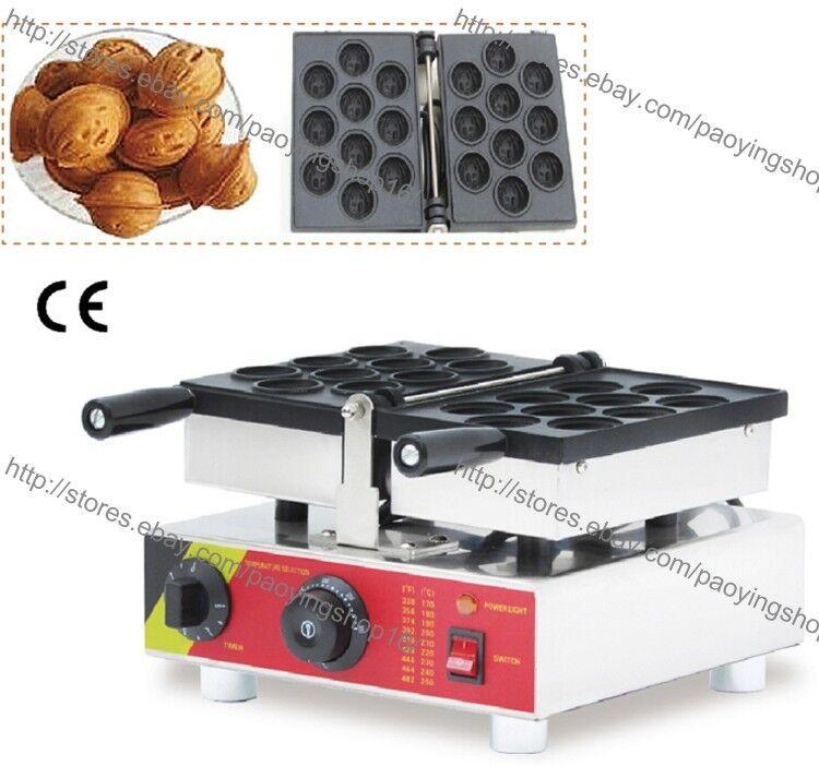 Poêlon 110 V 220 V ELECTRIC 10pcs Russian ORESHKI Noix Waffle Baker Maker
