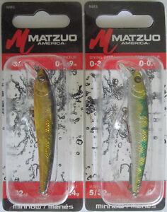 "2 MATZUO  Nano Minnow 5//32 oz Two Popular Colors! - 2-3//4/"""