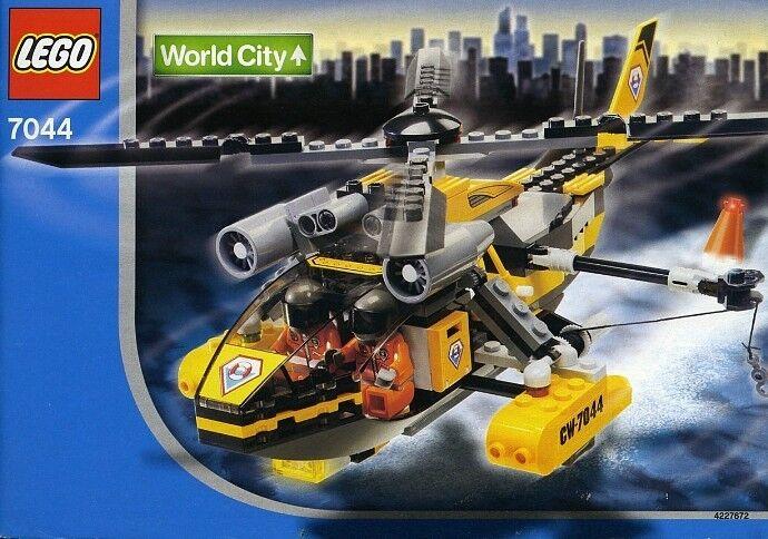 nouveau  Lego Town City Coast Guard 7044 Rescue Chopper SEALED  2003'  réductions et plus
