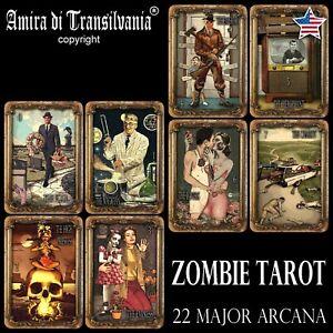 zombie-tarot-card-cards-deck-halloween-major-arcana-horror-oracle-rare-vintage
