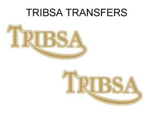 TRIBSA Tank Transfers Decals Stickers Motorcycle D90002A Silver