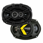KICKER 43DSC69304 6x9 inch 3 Way Car Speaker - Black