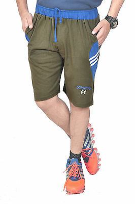 Sun Men's Shorts | Casual Wear| Sleepwear  Royal Mehandi+Royal Blue