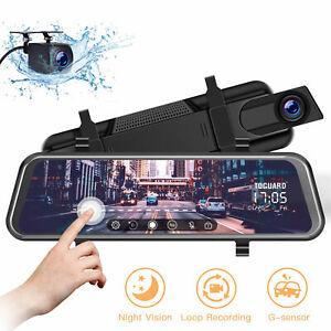 TOGUARD-10-034-Touch-Screen-Rear-View-Mirror-Car-Dash-Cam-Reversing-Recorder-Camera