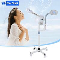 2in1 Desktop Led Magnifying Lamp + Stand Facial Ozone Steamer Salon Skincare Hot