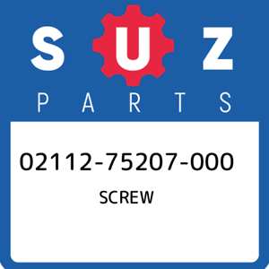 02112-75207-000-Suzuki-Screw-0211275207000-New-Genuine-OEM-Part