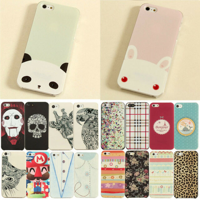 New Painted Cute Cartoon Pattern Hard Case Cover Skin For Apple iPhone 5S 4S 5C