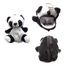 "Plush Keychain Keyring Zippered Coin Pouch Bag Zoo Animal Panda 5"" NEW"