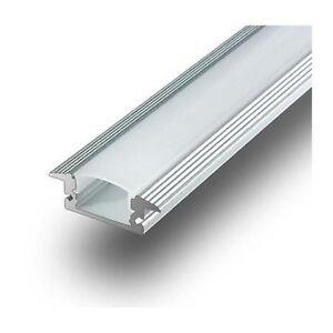 Profilo per barra led in alluminio da incasso per for Profilo alluminio led leroy merlin