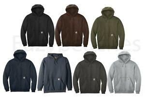 CARHARTT-Men-039-s-Authentic-Midweight-Hooded-Sweatshirt-Pullover-Hoody-K121