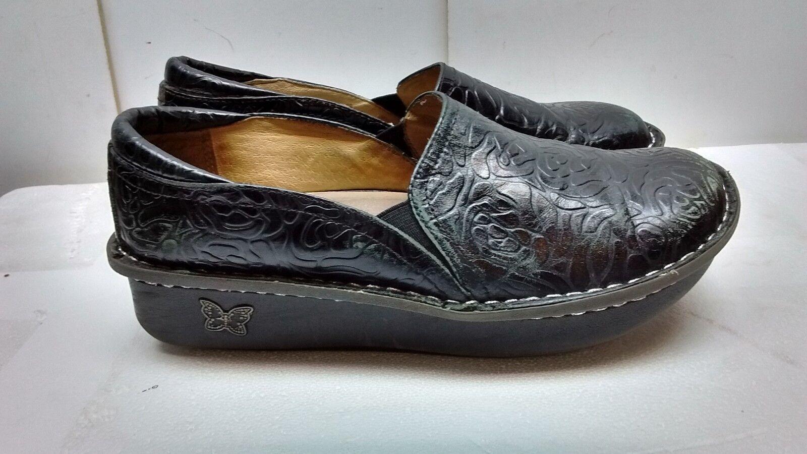 Alegria PG LITE en cuir noir à Enfiler Mocassin Sabots travail femmes Chaussure Taille 9-9.5M 39
