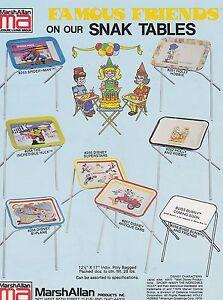 VINTAGE-AD-SHEET-3634-1979-FAMOUS-FRIENDS-MARSHALLAN-TRAYS-HULK-SPIDERMAN