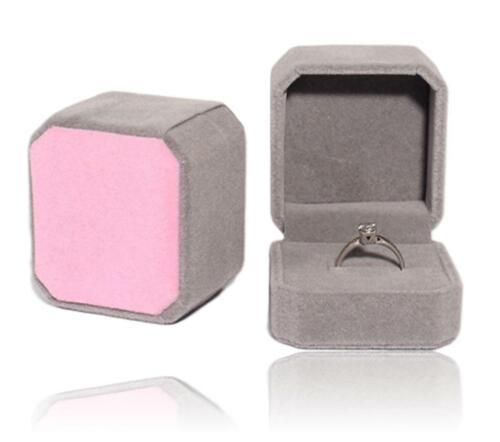 Ringetui Hochzeit Ringschachtel Schmucketui Ringschatulle Ringbox Farbe Grau Ros