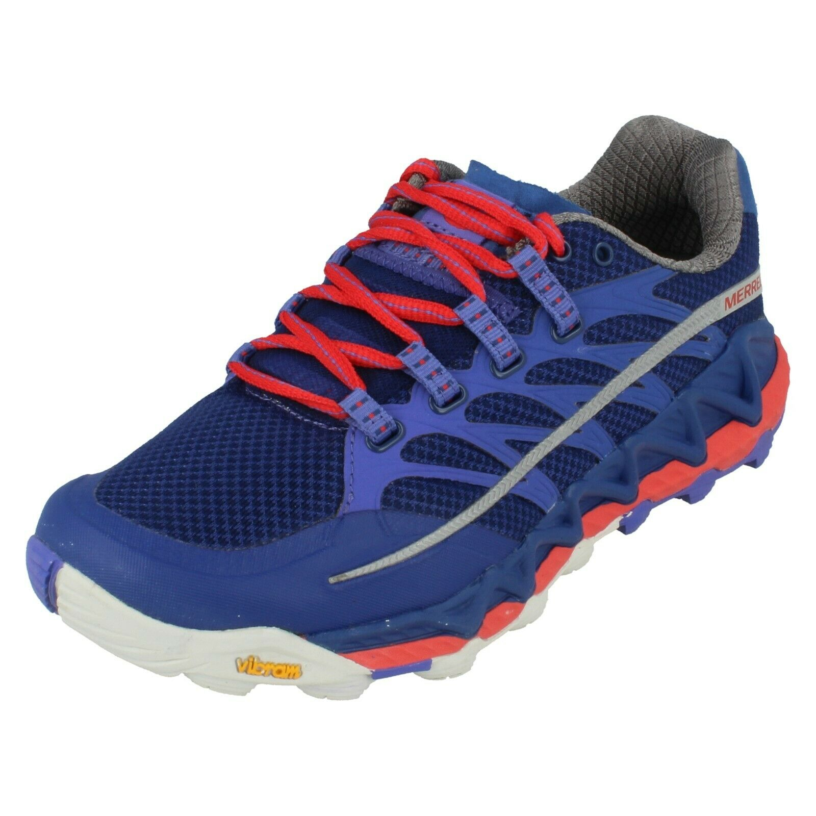 Women merrell lace up casual trainer all out peak