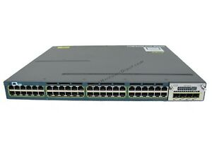 Cisco-WS-C3560X-48P-E-Gigabit-PoE-IPServices-w-C3KX-NM-1G-1-Year-Warranty
