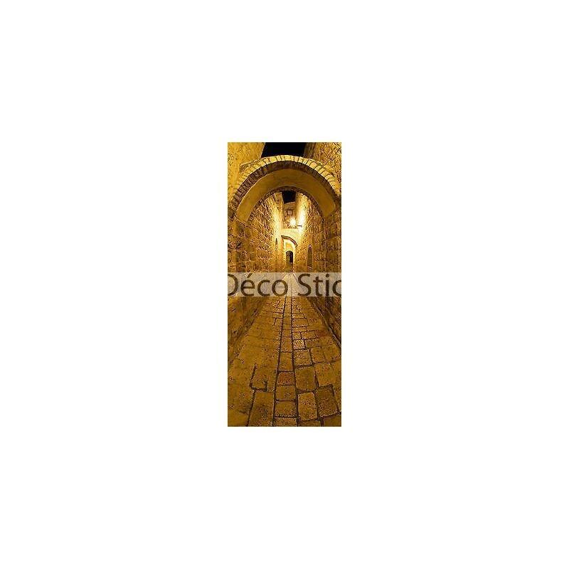 Sticker trompe l'oeil Rue voutée 100x260cm réf 416 416