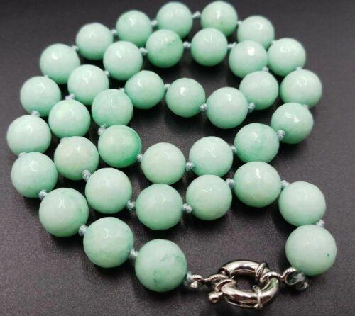 "NOUVEAU 10 Mm Naturel Facette Aquamarine Gemstone Round Beads Necklace 18/"""
