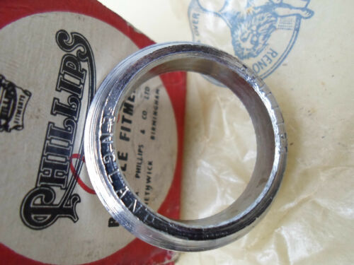 Vintage NOS Phillips RALEIGH Bicycle Head fittings Fork Crown  Races ENGLAND
