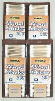 1200 Royal Brand 3 Double Tipped Wood Stick Cotton Swabs Q-tips (4x300 Ct.)