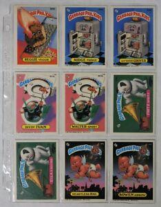 ESA1720 VINTAGE Lot of 9: GARBAGE PAIL KIDS Sticker Cards 305B-309B Topps (1987)