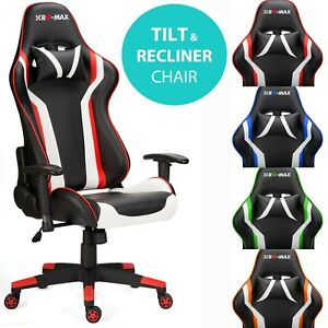 RG-Max Gaming silla reclinable oficina de piel sintética PC Racing Pro