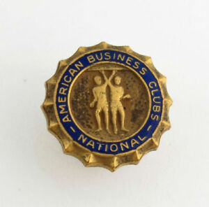 American-Business-Clubs-National-Lapel-Pin-Member-Collectible-Gold-Toned