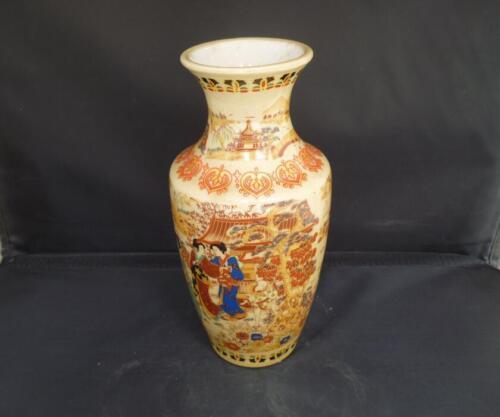 Handwork Porcelain Drawing Elegant Dowager /& Landscape Rare Noble Big Vase
