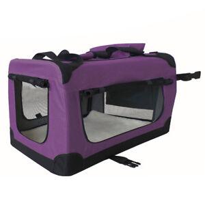 Petigi Transportbox Sac Faltbox Pliable Chien Chat Violet Taille Xxxl