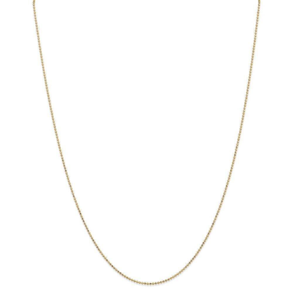 14kt Yellow gold 1.2mm D C Baby Ball Chain; 16 inch