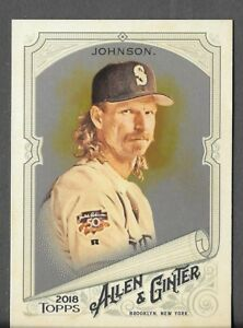 Randy-Johnson-2018-Topps-Allen-amp-Ginter-HOT-BOX-SILVER-GLOSSY-FOIL-Mariners-113