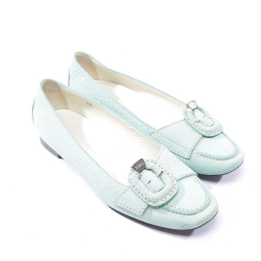 TOD´S Ballerinas Halbschuhe Gr. D 38 Grün Damen Schuhe Schuhes Ballerinas  TOD´ ... addca6aae5