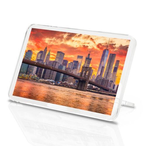 Belle NEW YORK SUNSET classique aimant de réfrigérateur-Pont de Brooklyn Cadeau #16861