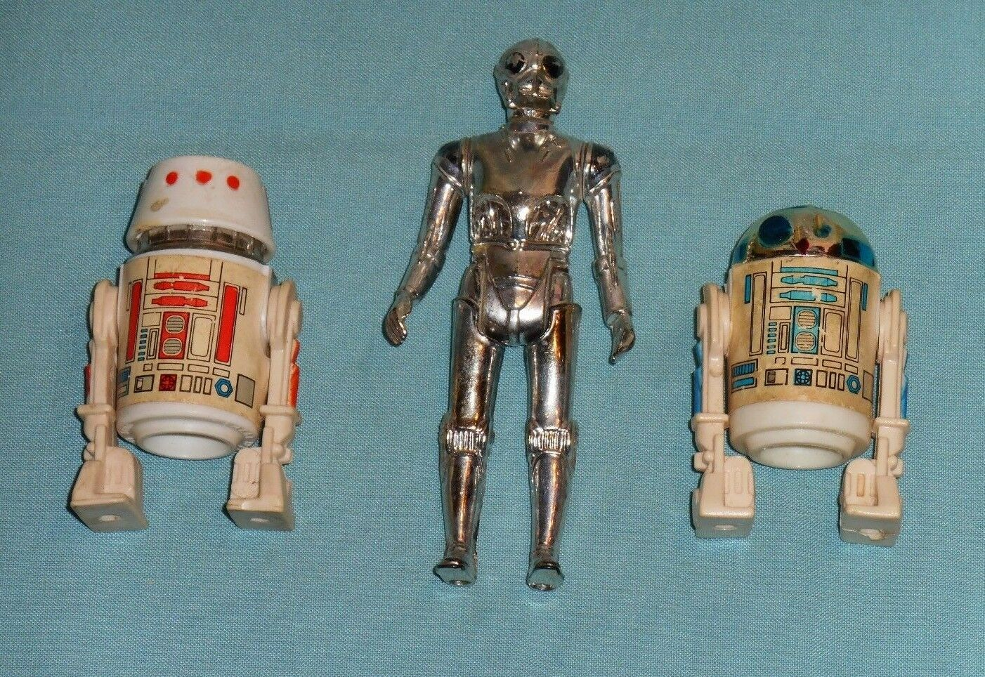 Vintage STAR WARS FIGURE LOT  121 figures droids R2-D2 Death Star Droid R5-D4
