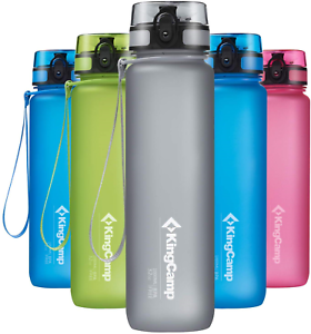 KingCamp Tritan Sport Eau Bouteille 1 L Bpa-Free with Wide Mouth Opening for