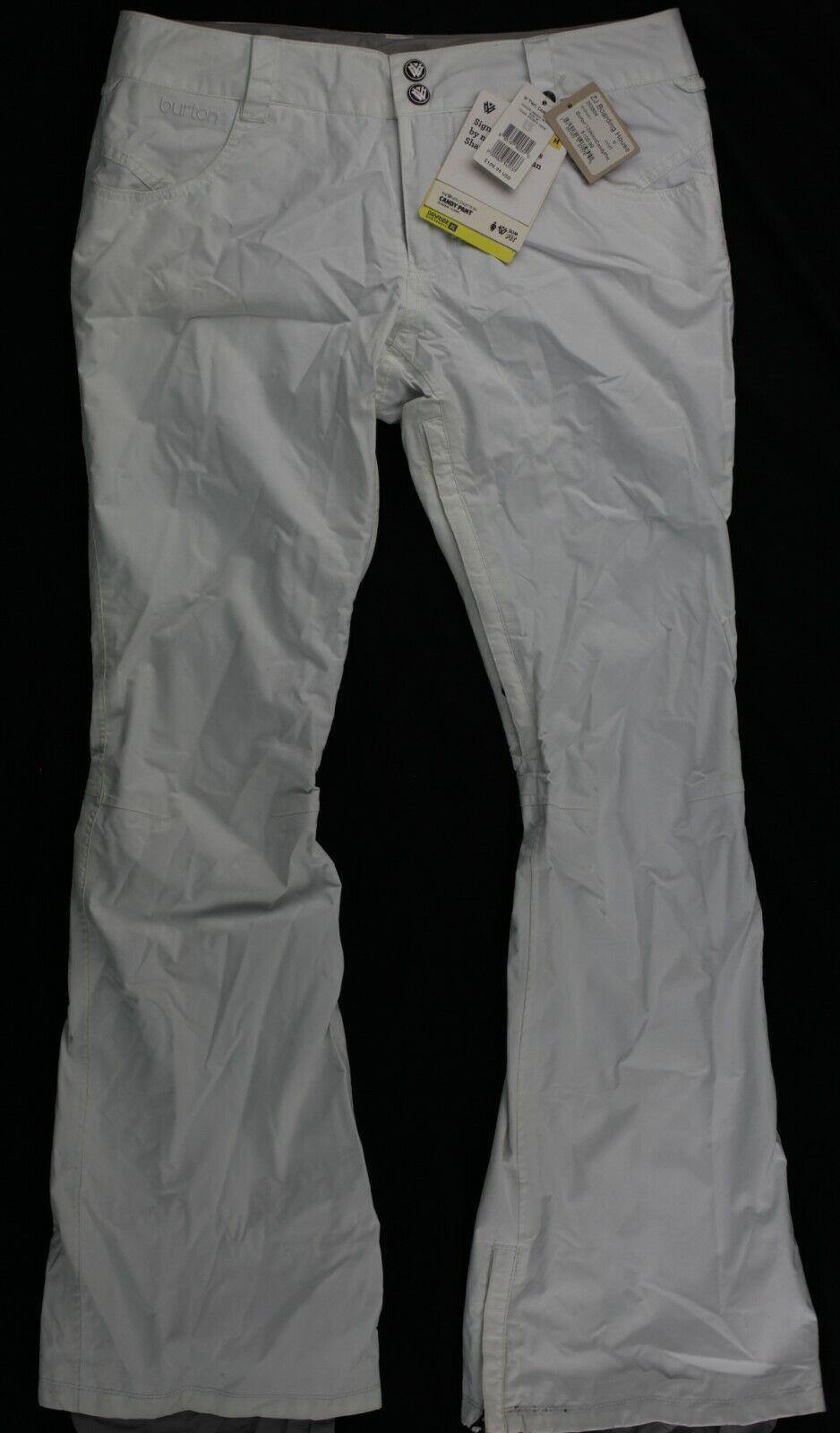 damen Burton Candy Pants Ski Snowboard Pants Weiß M NWT New with tags