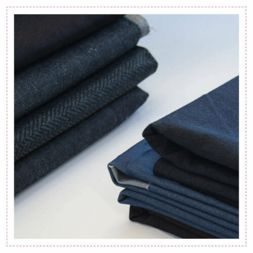 ca 22m ca Stoffpaket Jeans uni Stoff Jeansstoff ca 10kg 8,17 €//m