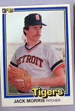1981 Donruss Jack Morris #127 Baseball Card