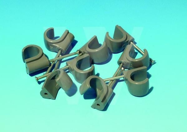 Hep2O PIPE CLIPS 15mm NAIL IN CABLE TYPE 10 BAGS OF 50 HX65//15 GR 500 CLIPS