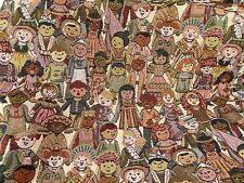 Children World Upholstery Fabric Yardage Happy Juveniles International 3.5 yds