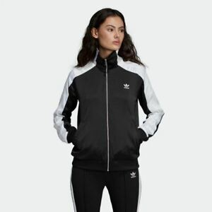 Details about Adidas WOMEN ORIGINALS FIREBIRD TRACK JACKET VINTAGE STYLE BLACK [DU9718]