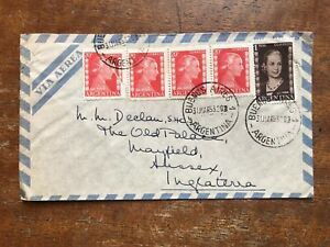 1953 L'argentine Air Mail Cover To Uk-eva Peron-ref264