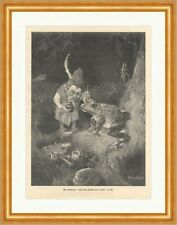 Der Froschmaler H. Schlitt Märchen Sagen Tiere Zwerg Pinsel Wald Farbe ED 0077