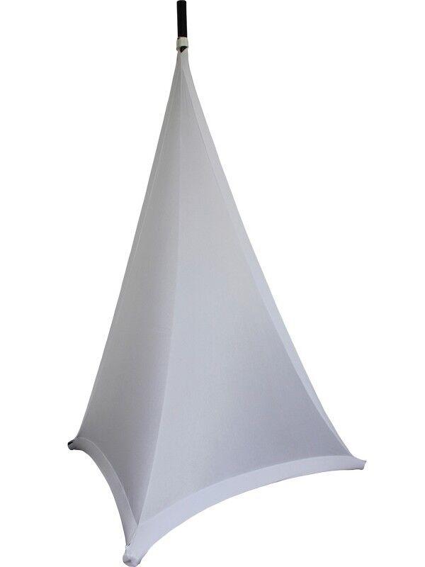 Ibiza Light Double Sided Speaker Stand Scrim White 1.2M DJ Disco