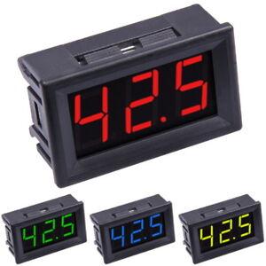 """0-100V Voltmeter Digital LED 0.56"""" Display Panel Mount 3-Wires DC Voltage Tester"""