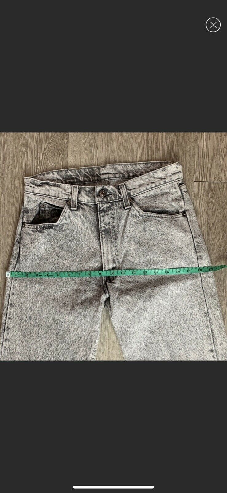 vintage high rise levis made in USA Gray - image 7