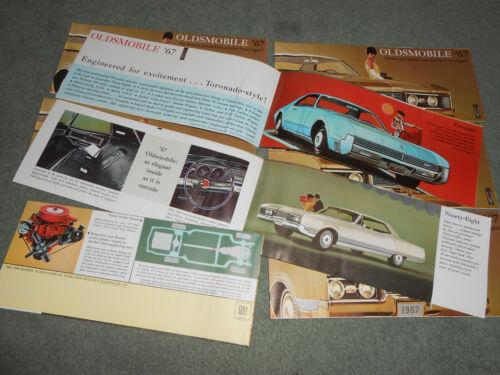 EIGHT 1967 OLDS 4-4-2 CUTLASS 88 98 TORONADO CATALOGS BROCHURES $5.99 POSTPAID