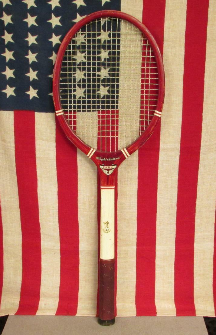 Vintage 1940s Wright & Ditson Wood Tennis Racquet Park Model Great Shape Display