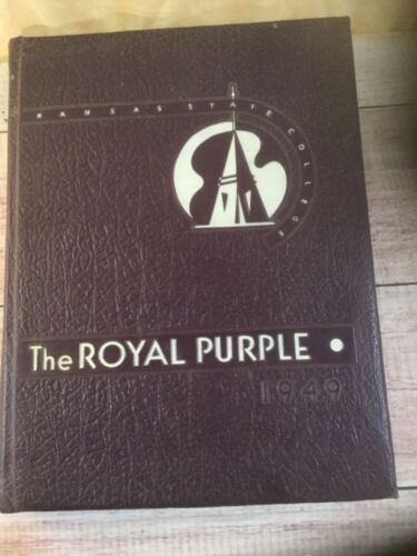 Vintage 1949 Kansas State College Manhattan Ks. Royal Purple KState Yearbook