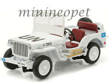 GREENLIGHT 86308 JEEP WILLYS UNITED NATIONS UN 1/43 DIECAST MODEL CAR WHITE
